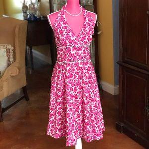 Lilly Pulitzer Vintage Floral Halter Dress sz 10